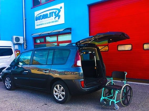 1 espace disabili in carrozzina