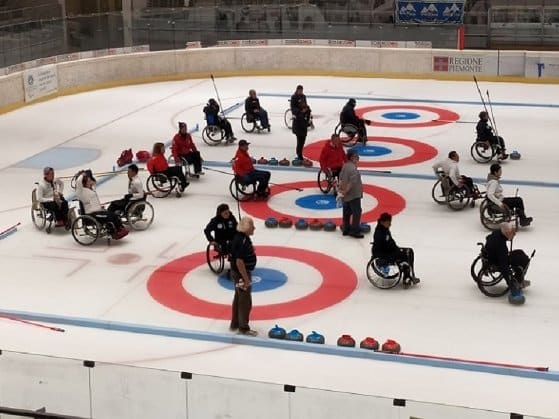Curling in sedia rotelle